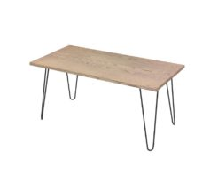 Loop Rectangular Coffee Table 1200x600mm - Oak Monocoat Slate Unstyled