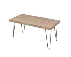 Loop Thick Rectangular Coffee Table 1200x600x50mm - Oak Monocoat Slate Unstyled