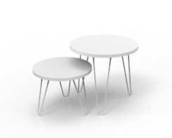 Loop Round Coffee Table 500mm - White Set Unstyled
