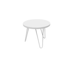 Loop Round Coffee Table 500mm - White