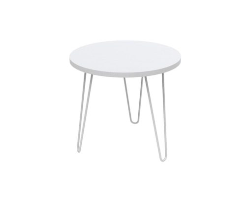 Loop Round Coffee Table 600mm - White