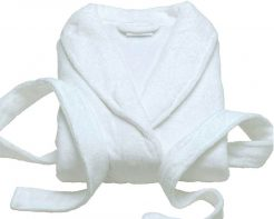 Bathrobe White Microfibre
