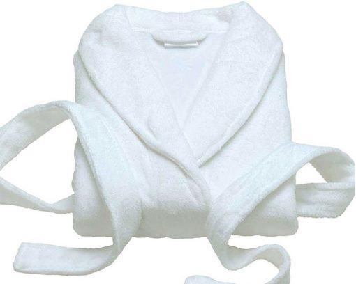 Bathrobe White Microfibre