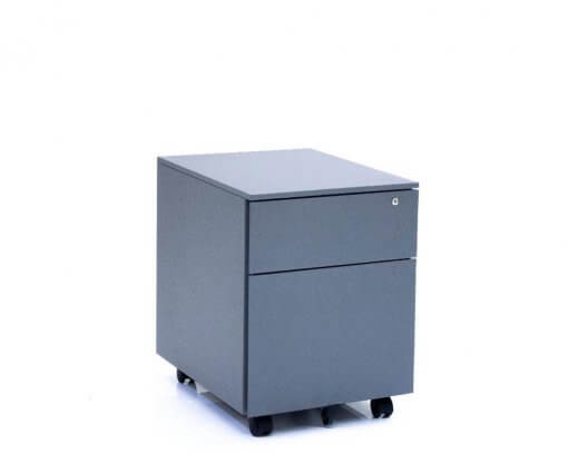 Solidline Metal 1 Drawer and Filer Mobile Pedestal Anthracite
