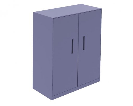 Solidline Hinged Door Cabinet Anthracite With White Shelves