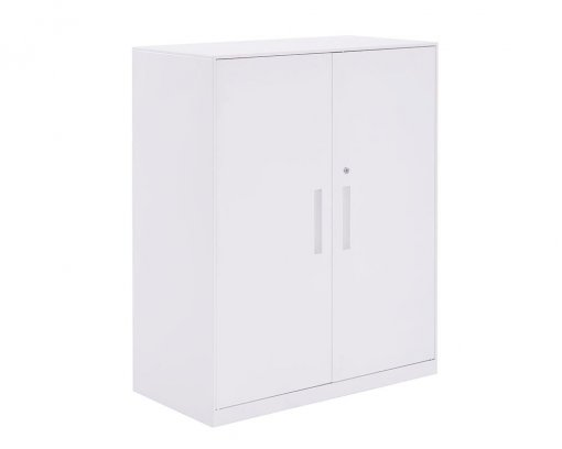 Solidline Hinged Door Cabinet White