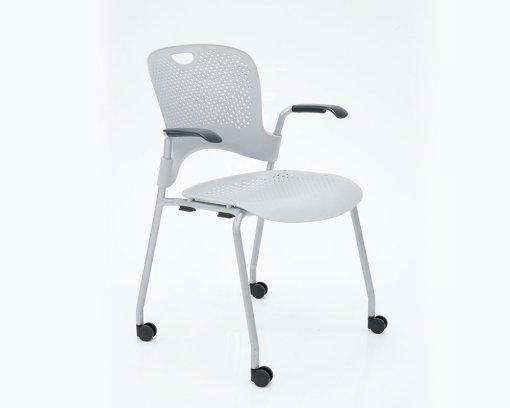 Caper Arm Chair Grey with Castors
