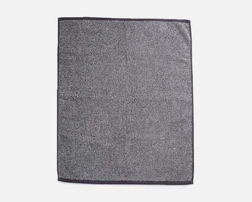 Linen House Plush Marle Bath Sheet Charcoal