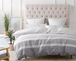 Linen House Rafaele Smoke Duvet Cover Set