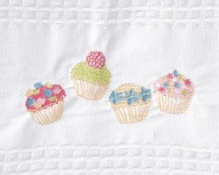 Linen House Tea Towel White Cupcakes