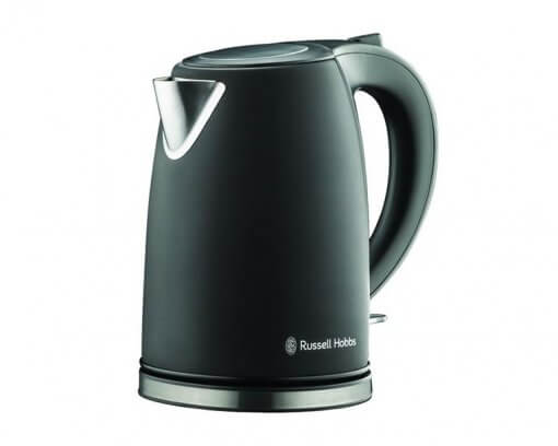 Russell Hobbs Kettle 1.7L Matt Black Stainless Steel RHCK08