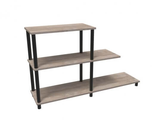 Home Office Stack Bookcase Stepped HOME00228 Esperanza Oak