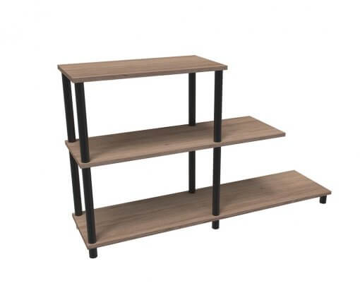 Home Office Stack Bookcase Stepped HOME00328 Harvard Cherry