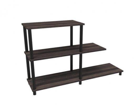 Home Office Stack Bookcase Stepped HOME00428 American Walnut