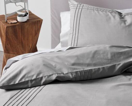 Linen House Duvet Cover Set Mayfair Grey