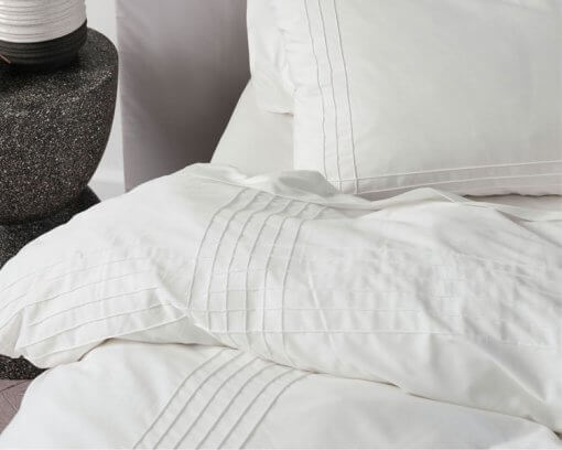 Linen House Duvet Cover Set Mayfair White