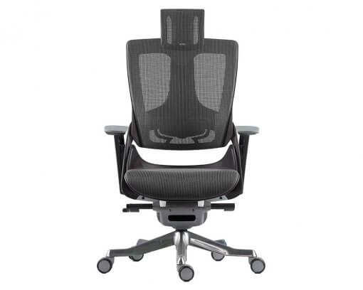Merryfair Wau Ergonomic Chair Mesh   Black Frame Charcoal Mesh Back and Seat