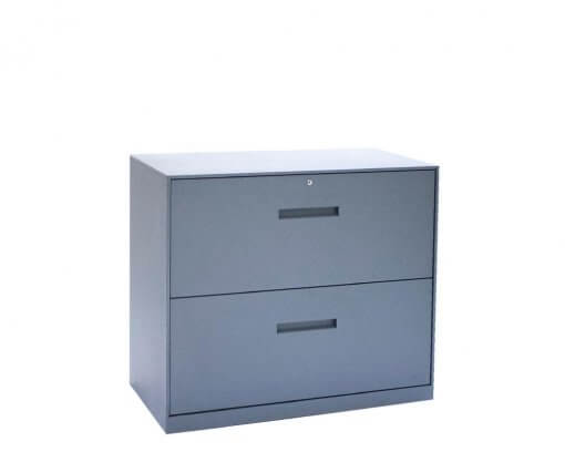 Solidline 2 Drawer Lateral Unit Anthracite