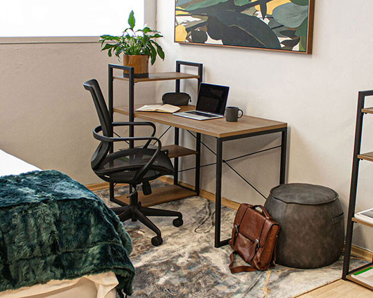 Studio Home Desk With Wall Unit