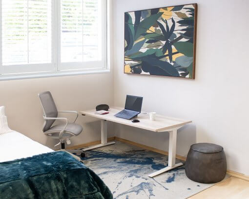 Elevate Sit-to-Stand | Electric Height Adjustable Desk | Home Scene