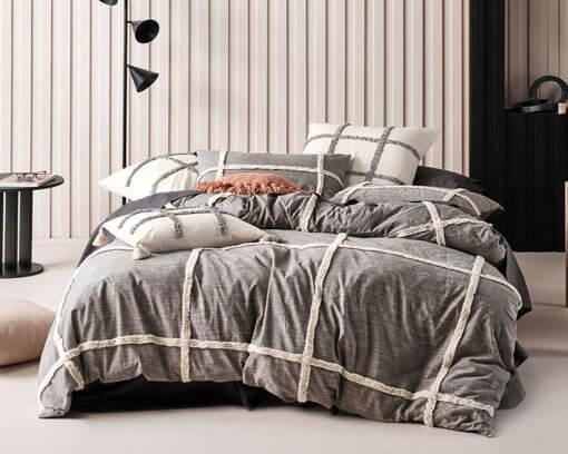 Linen-House-Duvet-Set-Lyndon-Black