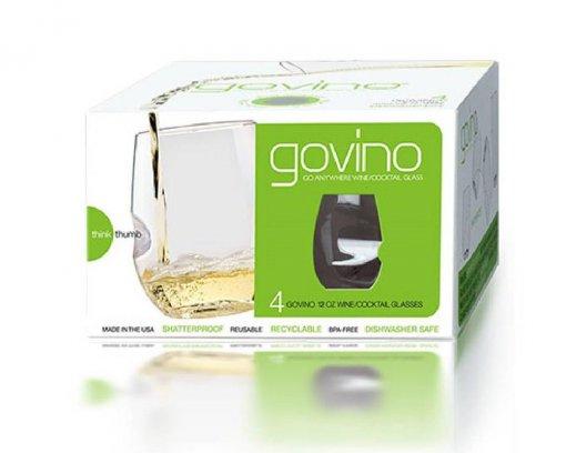 Govino Dishwasher Safe White Glasses Set 4piece 350ml
