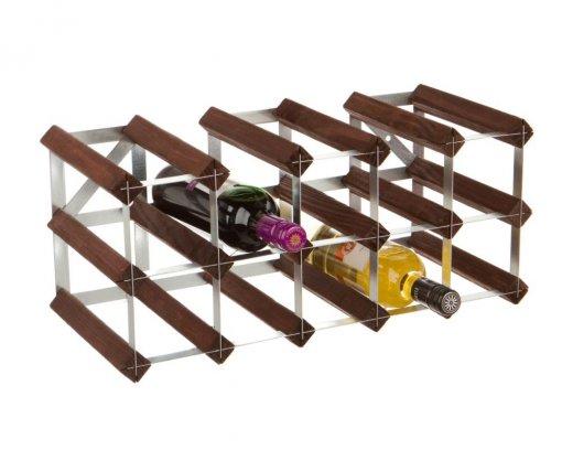 RTA Wine Rack - 15 Bottle 5x2 - Dark Pine (Self Assembly)