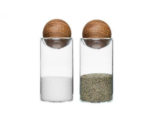 Sagaform Salt & Pepper Set with Oak Stoppers